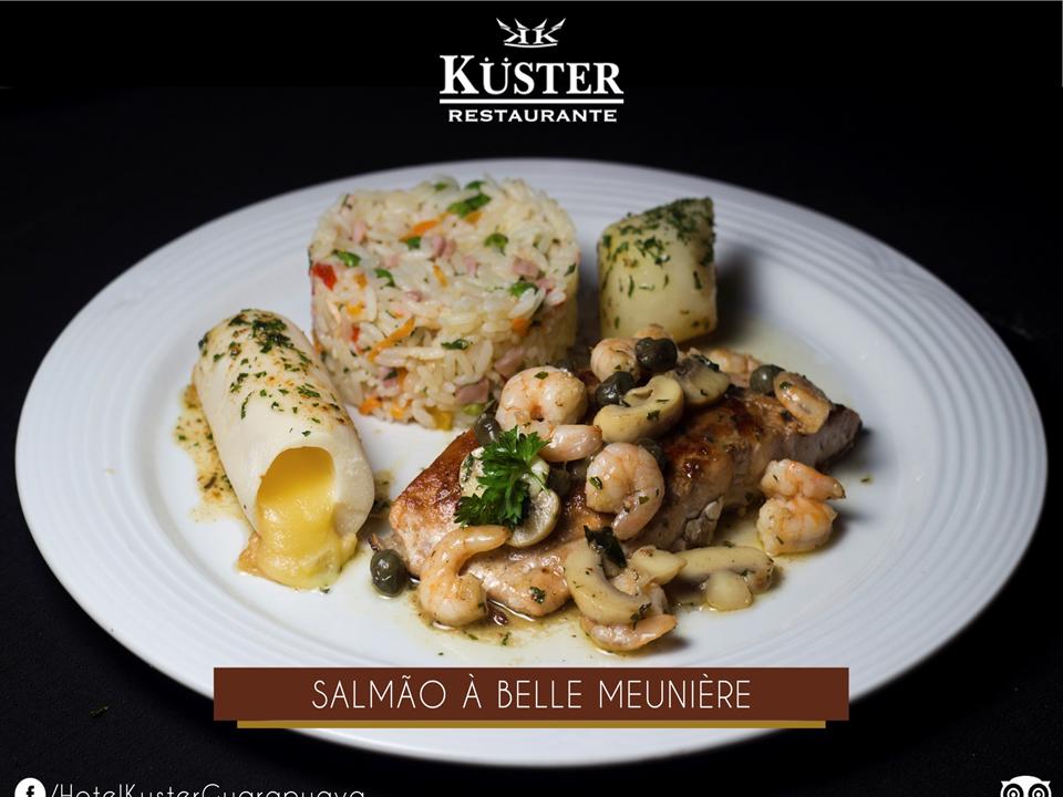 Prato Salmão à Belle Meunière do Restaurante Kuster